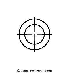 target., 被隔离, set., 槍, 十字准線, 稀薄, 步槍, 范圍, 圖象, 狙擊手