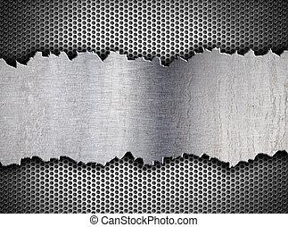 tempalte, grunge, 金屬, 背景, 裂縫