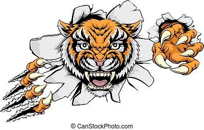 tiger, 攻擊, 概念