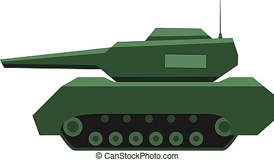 tower., 軍隊, 裝甲, 槍, 綠色, forces., 軍事, 坦克, tank.