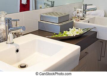 townhouse, 浴室, 現代