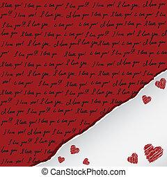 valentine卡片, 手寫