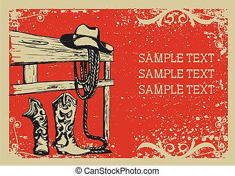 .vector, 圖像, 背景, 元素, 生活, grunge, cowboy's, 正文, 圖表
