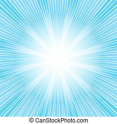 (vector), 背景, 摘要, 聖誕節, 藍色, sunburst