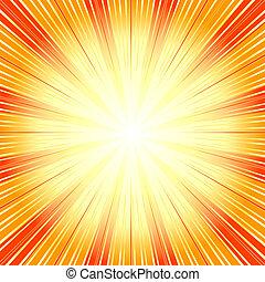 (vector), 背景, 摘要, sunburst, 橙