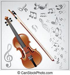 violin., 音樂, 背景