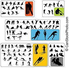 wintersport, 黑色半面畫像, 彙整