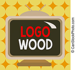 wood., 被給上色, 長方形, 顯示, 寫, 正文, 或者, 廣場, 概念性, 手, 設計, 不真實, 相片, 寫上, 木頭, 標識語, 可認識, 公司, wall., 卡通, 符號, 事務