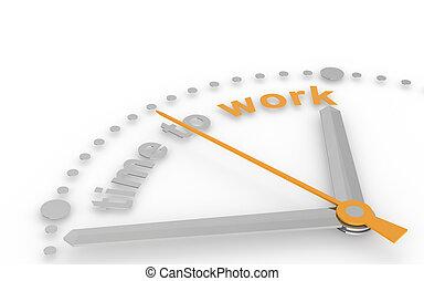 work., 時間, 摘要, clock.
