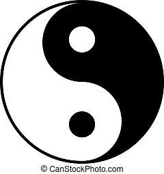 yin-yan, 白色, 黑色, 符號