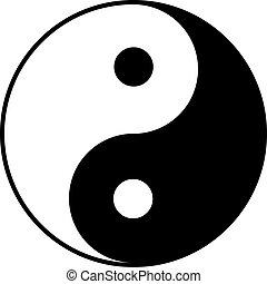 yin-yang, 符號
