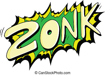 zonk, -, 喜劇演員, 矢量, 表示